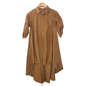 Hot & Delicious Button Up Shirt Dress Duster Womens Size Small